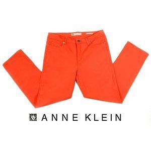 Anne Klein Orange Slim Crop Stretch Jeans - Sz 8